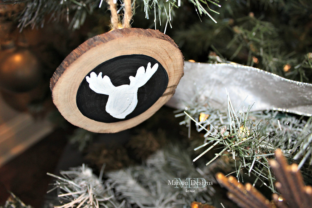 DIY Wooden Moose Silhouette ornament