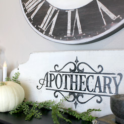 Apothecary Halloween Mantle & a Fireplace Update
