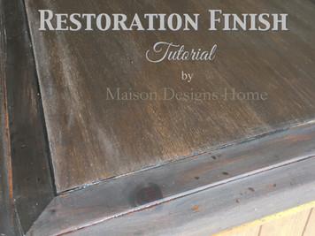 A Restoration Finish Tutorial~Vinegar & Stain combination
