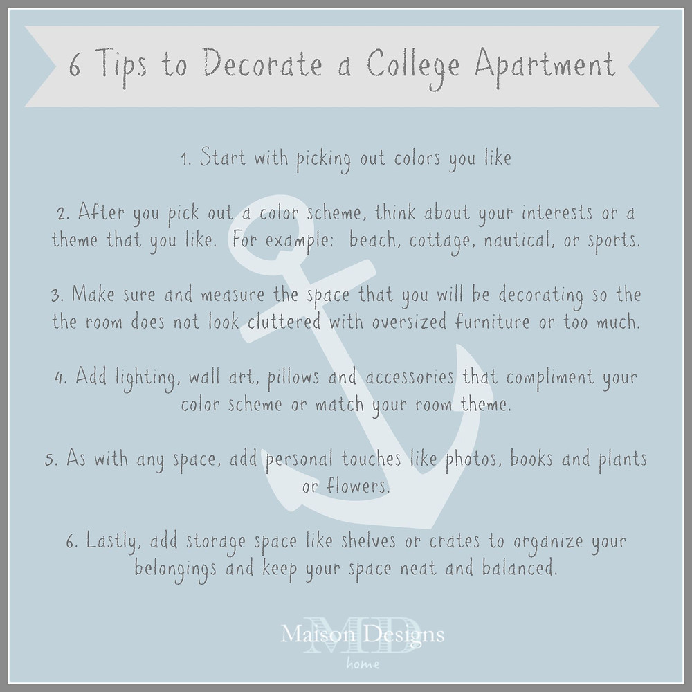 6 Tips to Decorate a College Apartment-Maison Designs Home