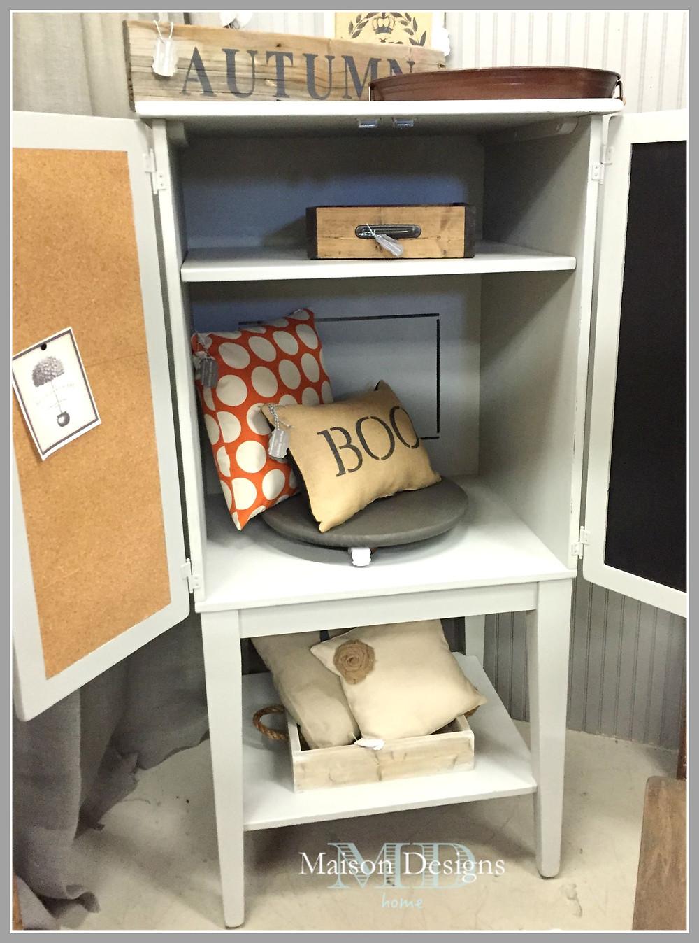 Furniture Makeover Media Cabinet-Maison Designs Home