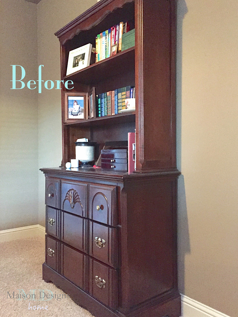 Before & After Furniture Makeover - Maison Designs Home