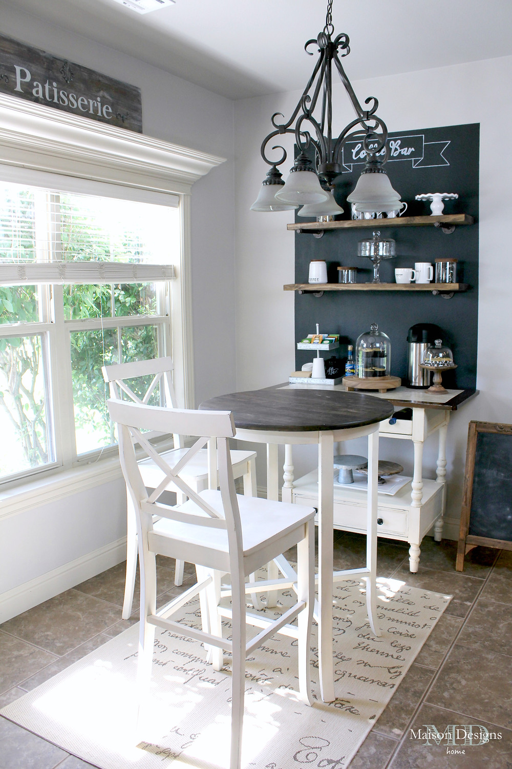 Coffee Bar DIY Inspiration-Maison Designs Home