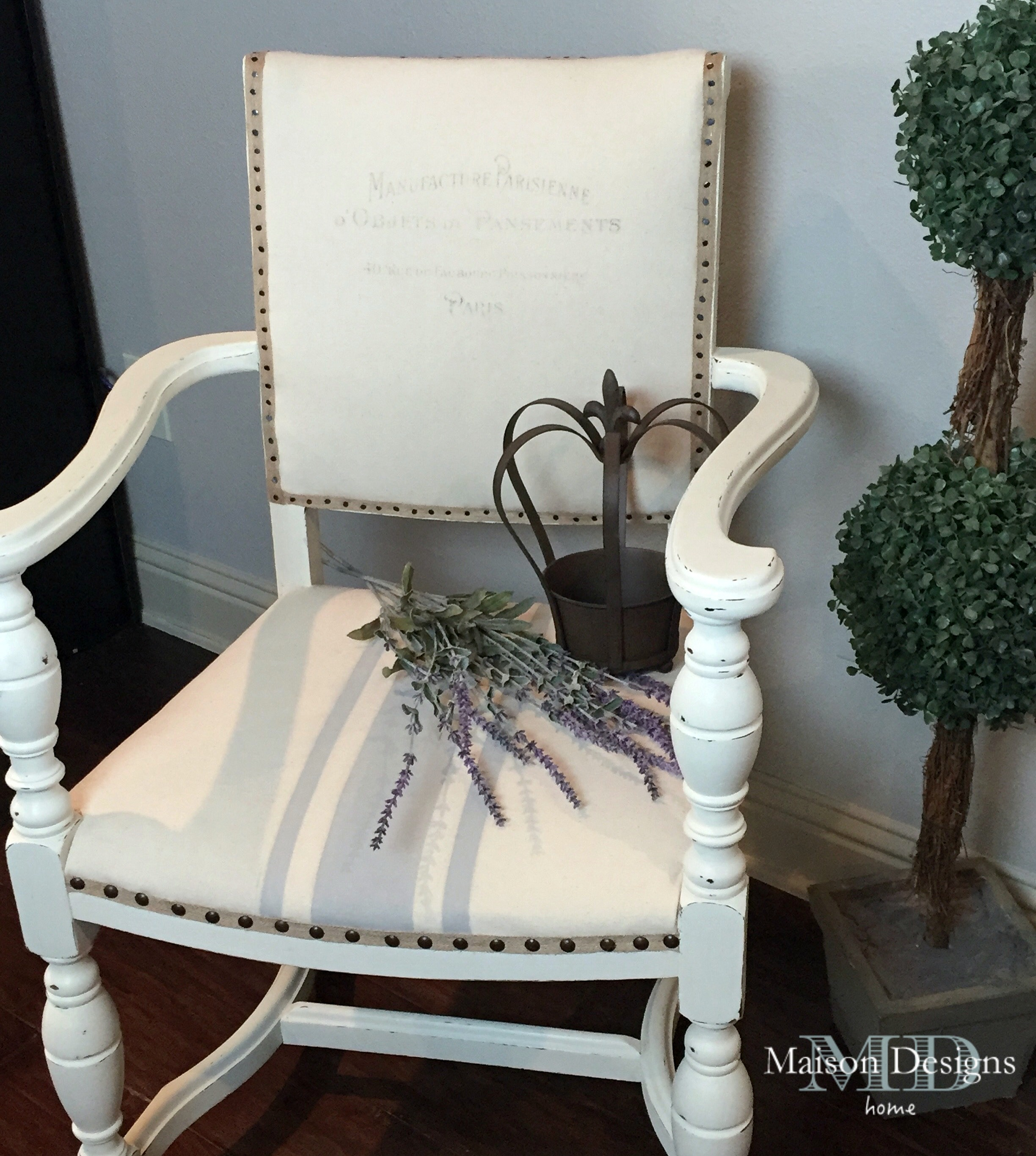 French Country Chair Makeover