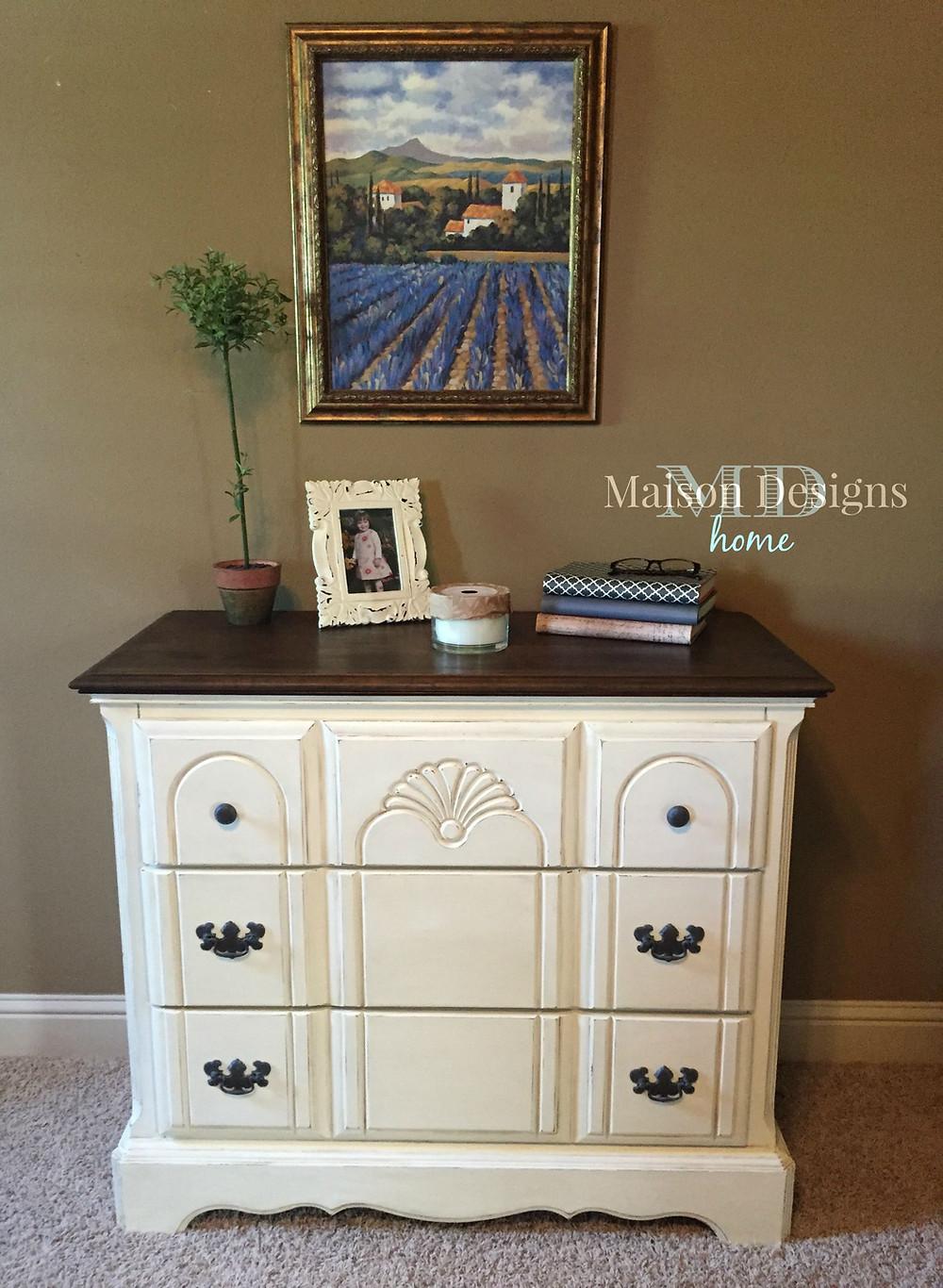 Maison Designs Home-Vanilla Bean Dresser Makeover
