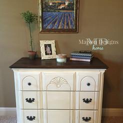 Vanilla Bean & Coffee Dresser~A furniture wax tutorial