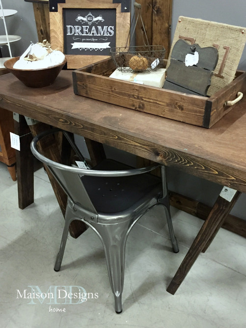 We Paired The Desk With This Galvanized Metal Chair To Carry Out The  Industrial Look Also Found In The Metal Sawhorse Brackets. Part 65