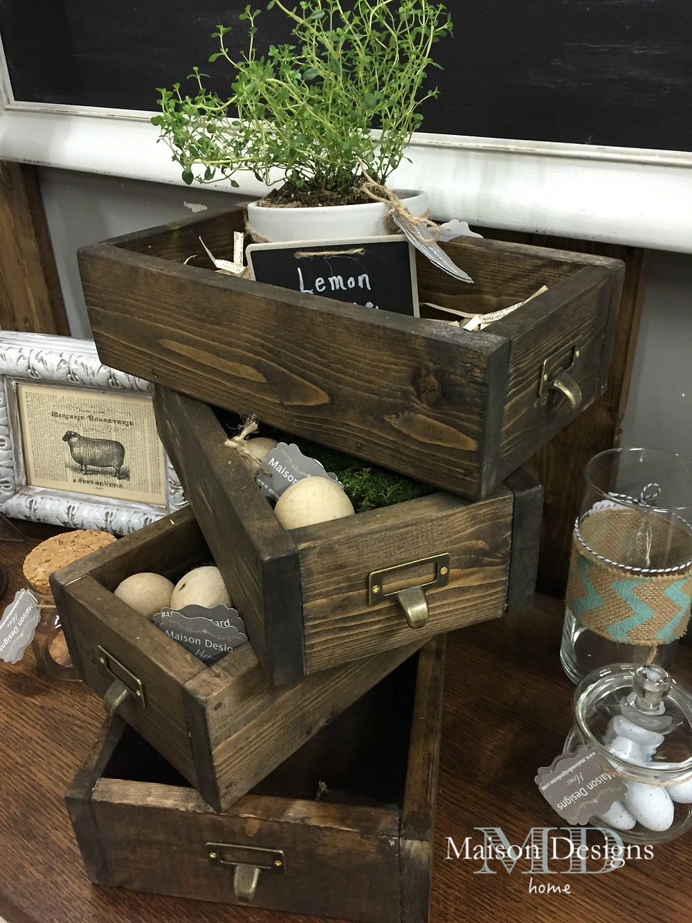 Library Pull Display boxes ~ Maison Designs Home