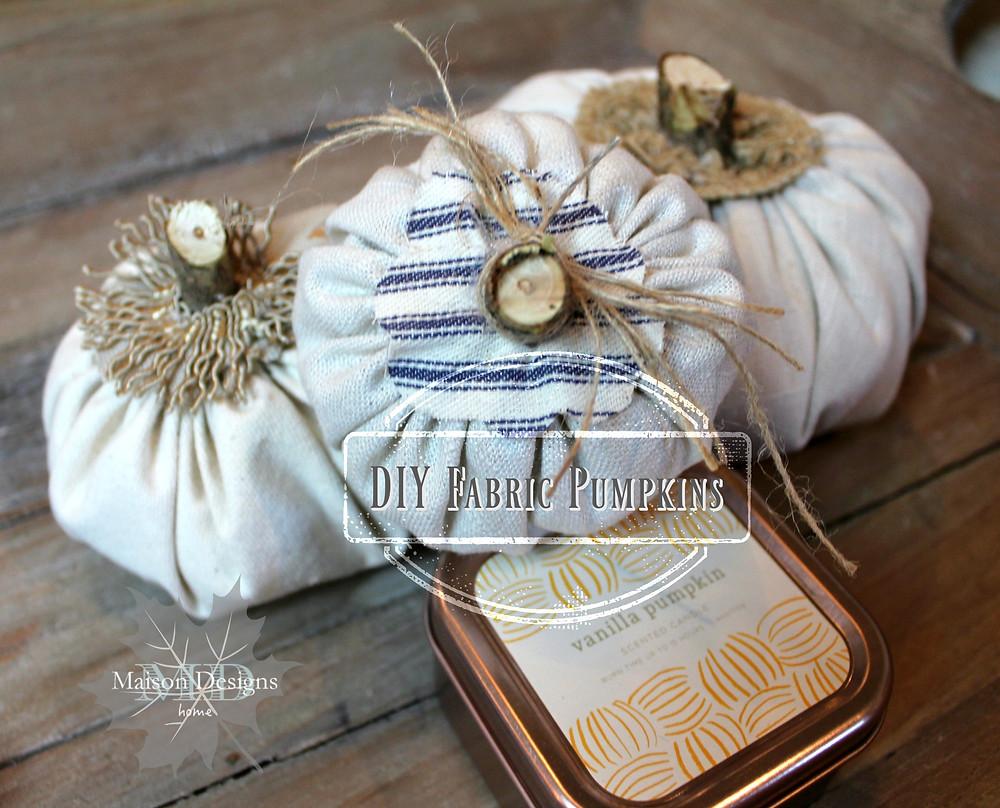 DIY Fabric Pumpkin Tutorial
