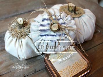 ~DIY Fabric Pumpkins~