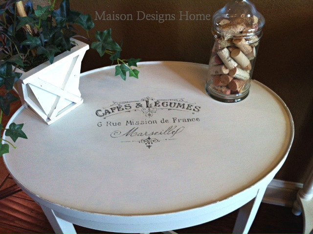 French Graphic Table-The Graphics Fairy feature-Maison Designs Home