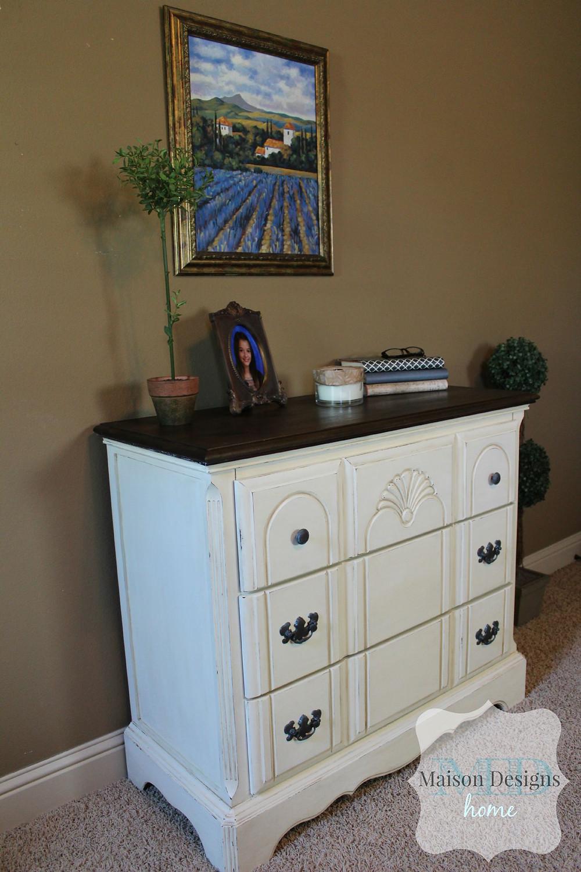 Dresser Paint Makeover - Maison Designs Home