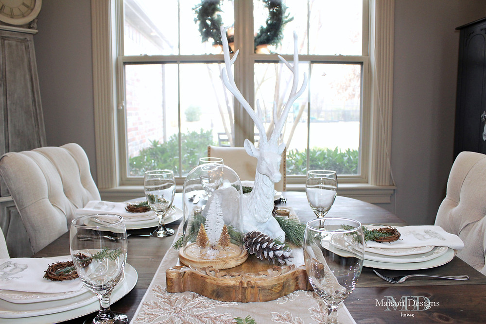 Narnia Inpsired Dining Room tablescape