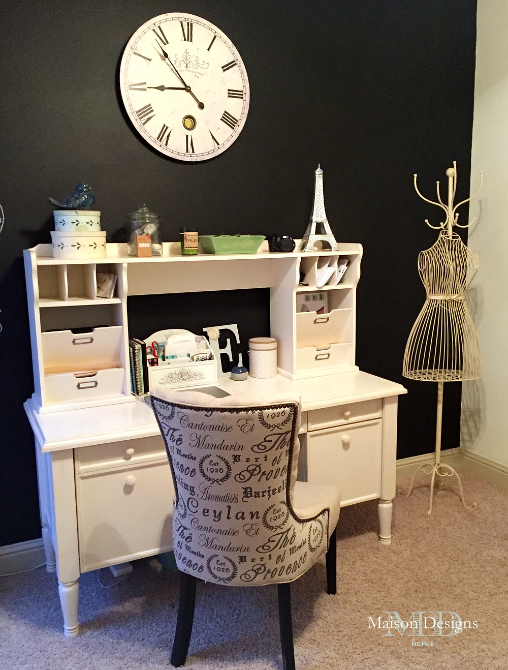 Chalkboard Office Feature Wall-Maison Designs Home