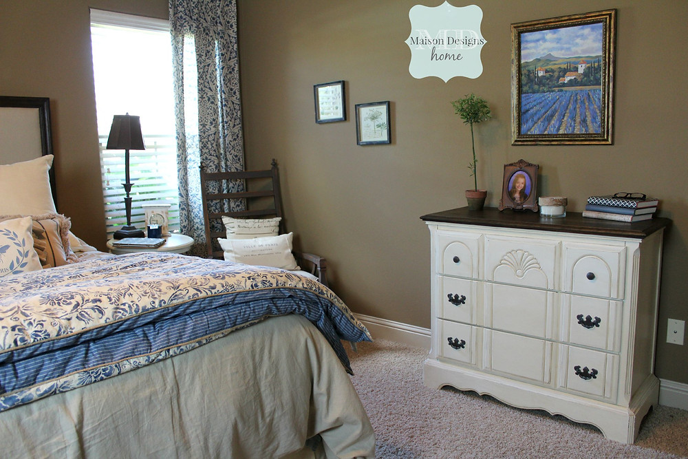 French country bedroom remodel - Maison Designs Home