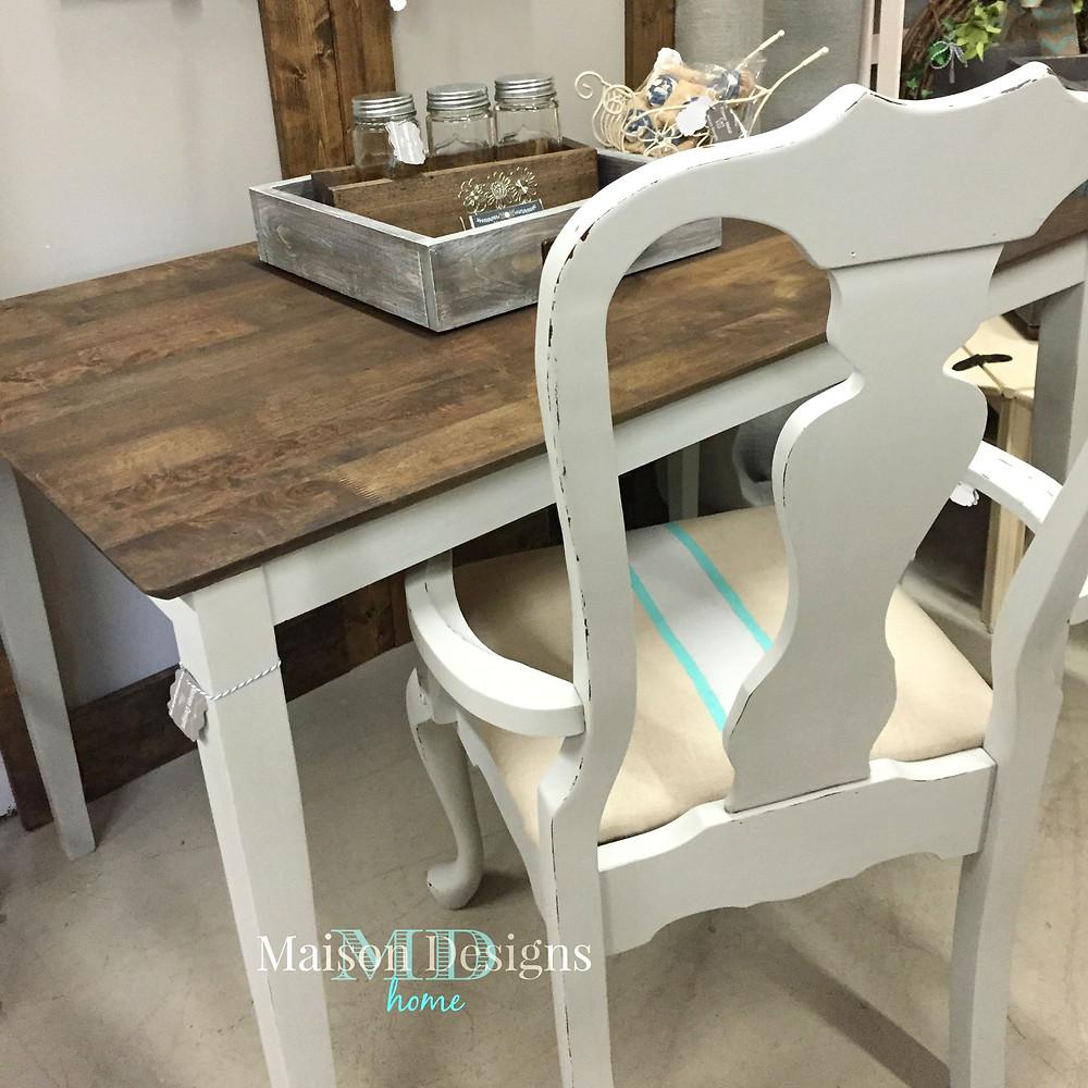 Chalk Painted Desk Makeover - Maison Designs Home