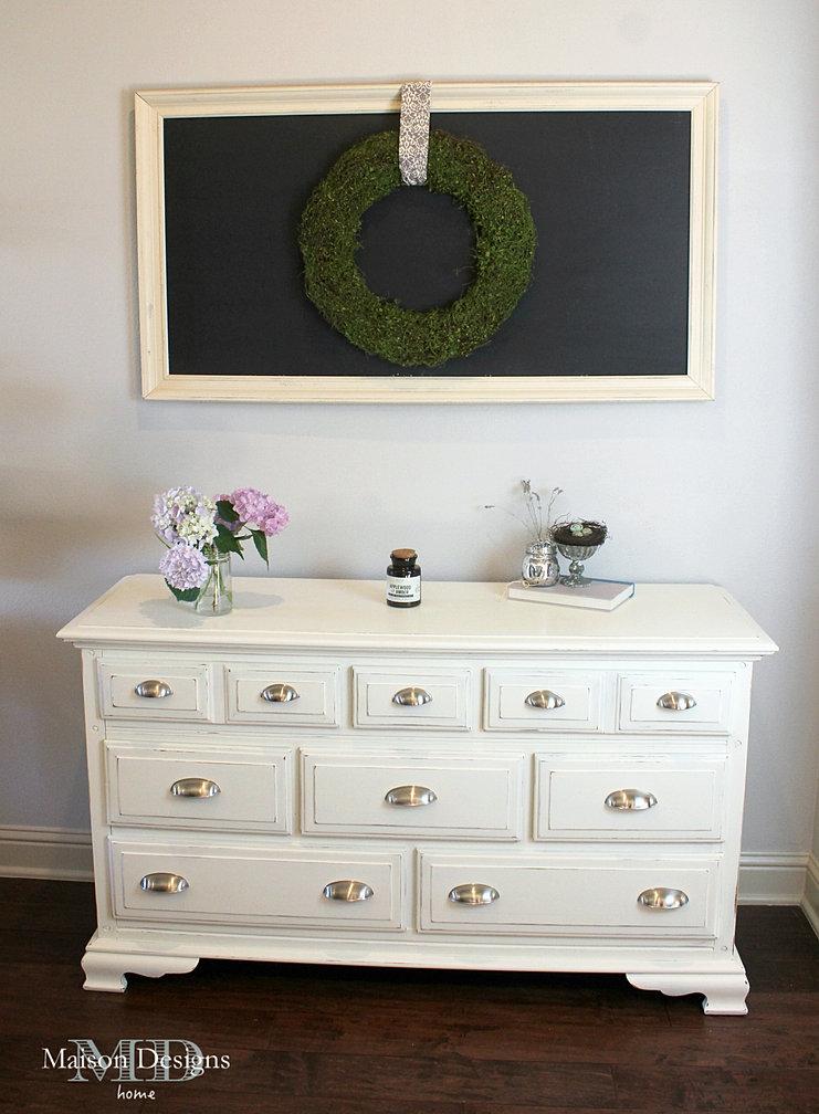 Shabby Chic Dresser DIY Chalkboard