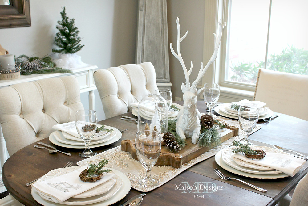 Narnia Inspired Dining Room for Christmas