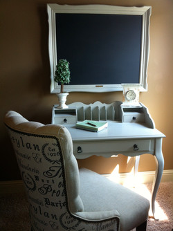 Gray Writng Desk Makeover