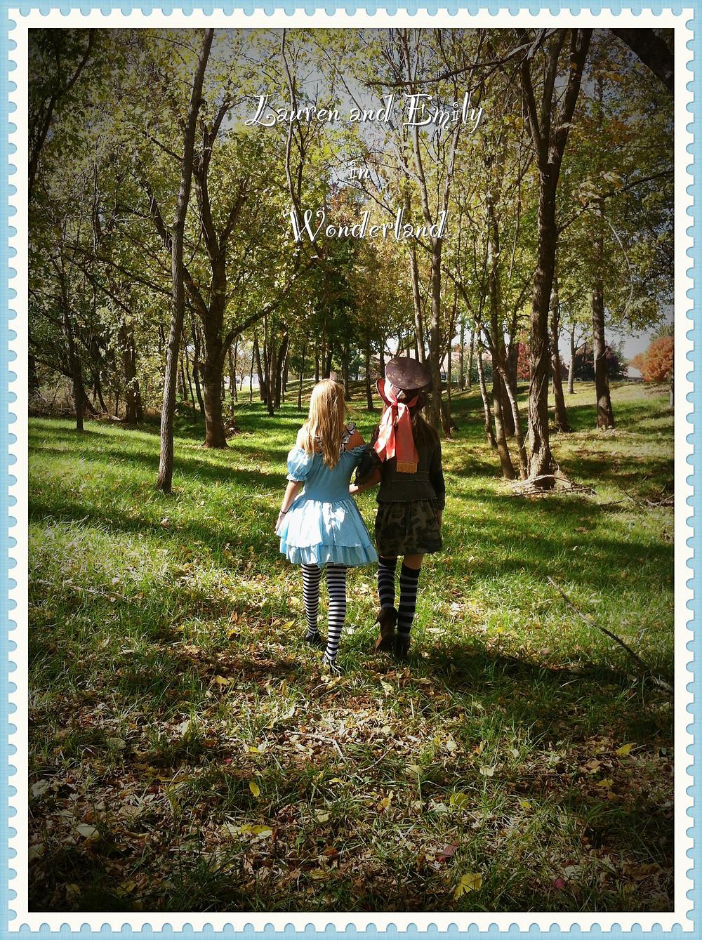 Lauren and Emily in wonderland.jpg
