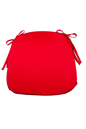 TIE BACK CUSHION RED