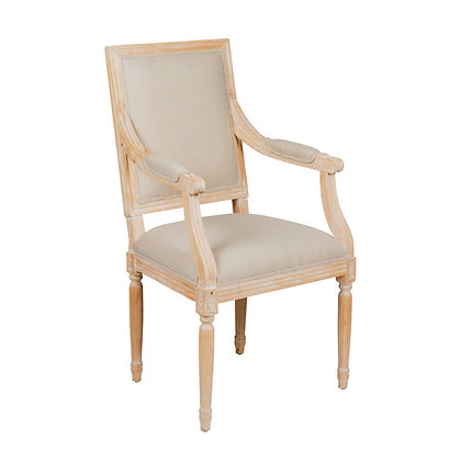 GARCON SQUARE DINING ARM CHAIR