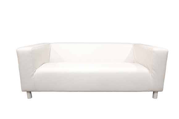 Jackson, White Loveseat
