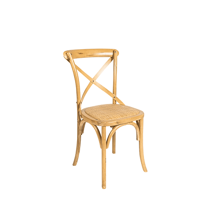 CROSS BACK CHAIR -NATURAL