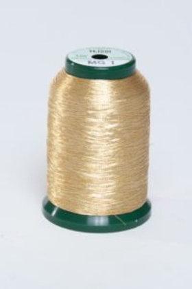 Metallic Embroidery Thread - 1000m Gold 2