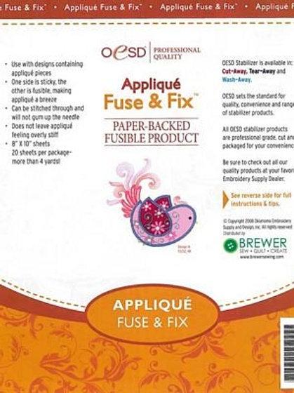 "Applique Fuse & Fix 8x10"" 20ct"