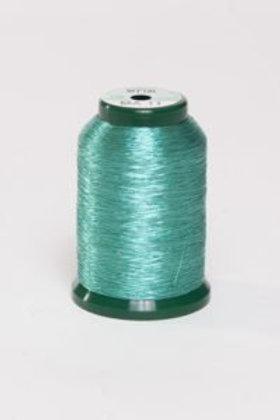 Metallic Embroidery Thread - 1000m Aqua