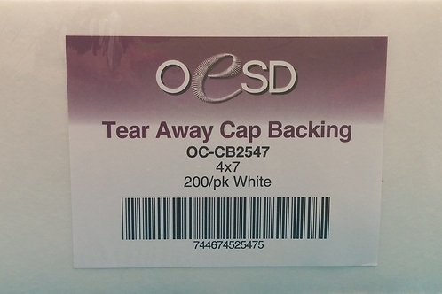 Tear Away Cap Backing 4x7 200ct