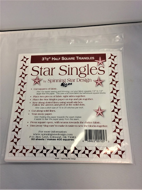 """Star Singles - 3.5"""" Half Square Triangles"""