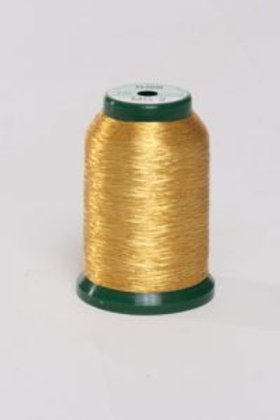 Metallic Embroidery Thread - 1000m Gold 3