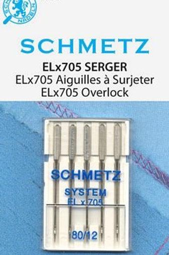 Serger Needle ELx705 80/12 5ct