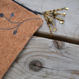 Pochette bohème en cuir de liège