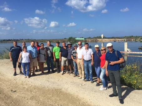 Аграрии Полтавы посетили рыбные хозяйства в киббуце Мааган Михаел