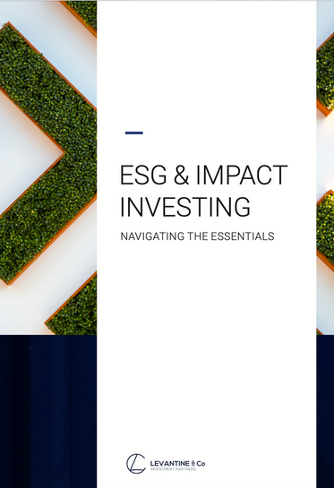 ESG and Impact Investing