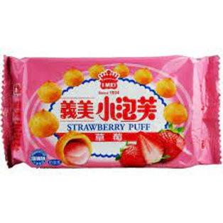 義美 草莓小泡芙59g