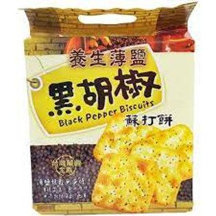 巧益 - 薄鹽黑胡椒蘇打餅 260g