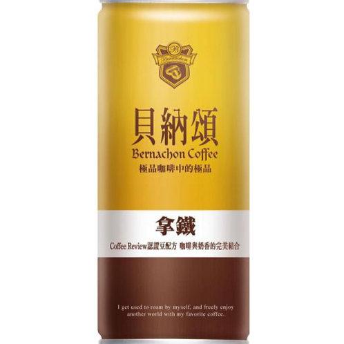 貝納頌拿鐵咖啡(6罐裝)(每罐210ml)(買滿$2000免運費,離島除外)