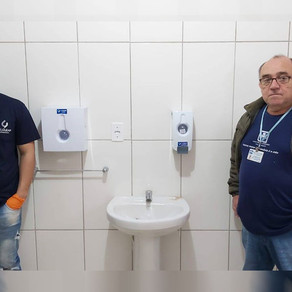 Empresa SolClean faz doação de dispenser ao Hospital de Caridade Frei Clemente