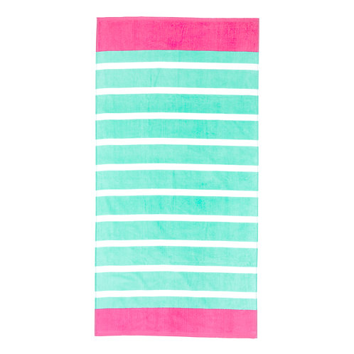Mint Stripe Beach Towel