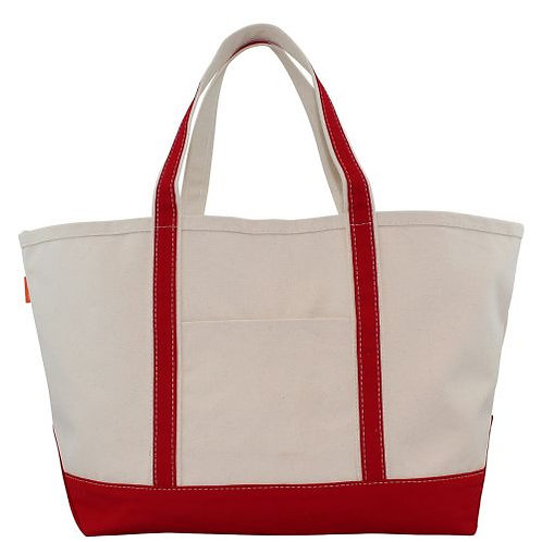 Red Large Boat Tote