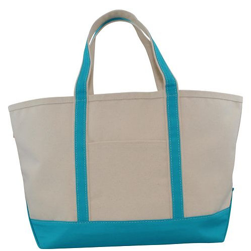 Turquoise Large Boat Tote