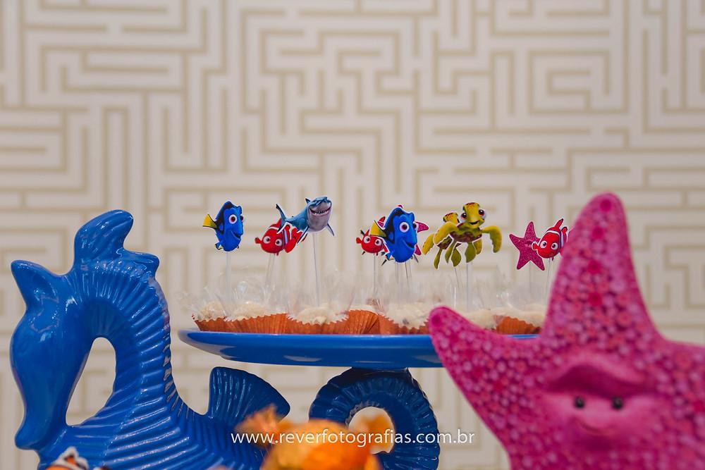 fotografia de doces com tema procurando nemo