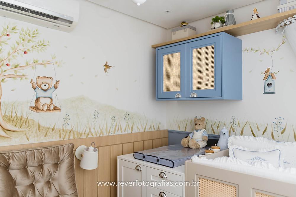 decoração de quarto infantil com tema urso