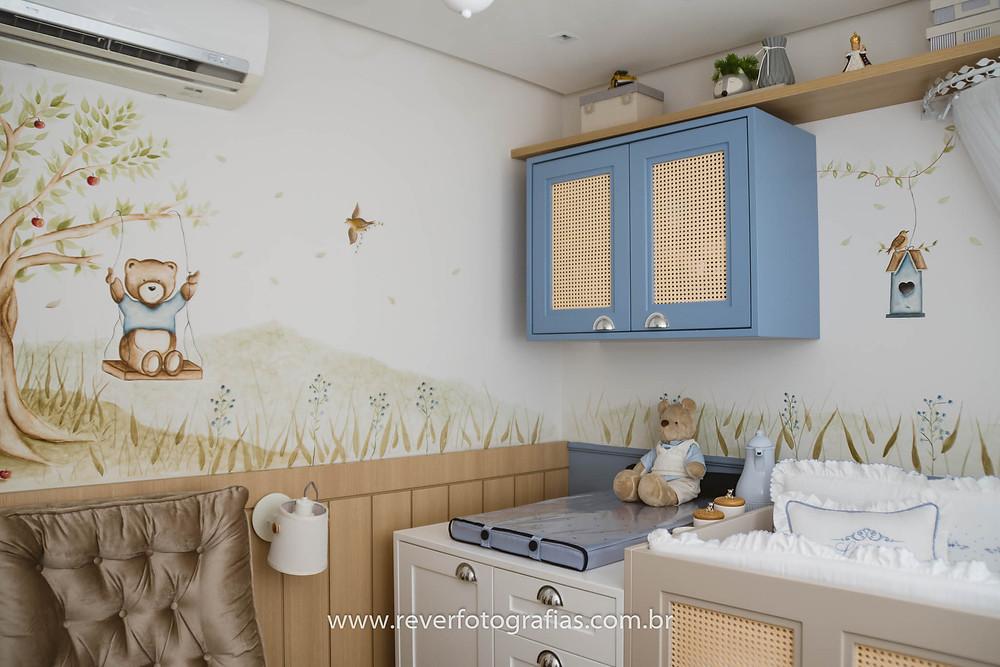 decoração de quarto de bebe tema ursinho