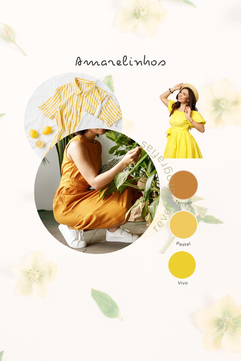 sugestão de tons de amarelos para ensaio