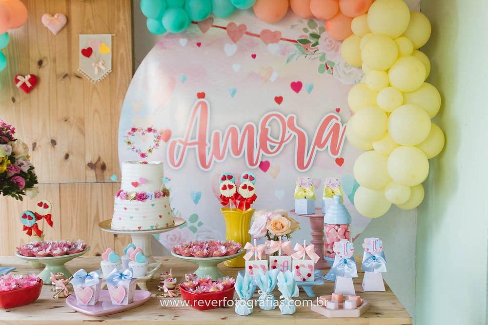 decoração de festa infantil tom pastel